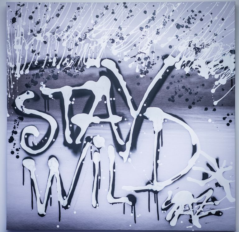 Stay wild black white original artwork 1 1